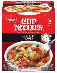 Nissin Cup O'Noodles 2.25 oz. - Beef