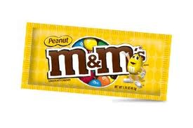 M & M Candy- Peanut 1.74 oz.