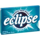 Wrigley's Eclipse Peppermint Gum 12 pieces