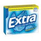 Wrigley's Extra Peppermint Gum Slim Pack 15 count