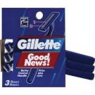 Gillette Good News Shaver 3 count