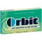 Wrigley's Orbit Gum- Sweetmint  14 pieces