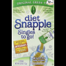 Diet Snapple Green Tea Singles to go