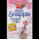 Diet Snapple Raspberry Tea Singles To Go